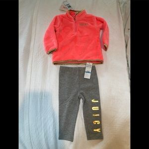 Juicy Couture fleece top w/ matching leggings NWT